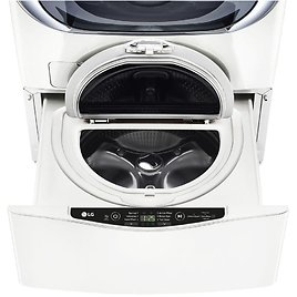 LG Electronics 27 In. 1.0 Cu. Ft. SideKick Pedestal Washer with TWINWash System Compatibility, White