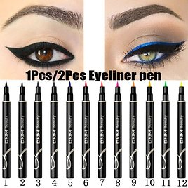 US $0.53 46% OFF DNM 1Pcs Colorful Matte Liquid Eyeliner Pencil Waterproof Smudge Proof Pigment Party Blue White Eye Liner Cosmetic Tools TSLM2 Eye Shadow & Liner Combination  - AliExpress