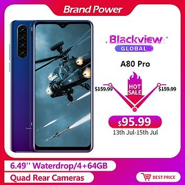 US $97.99 51% OFF|Blackview A80 Pro 6.49'' Waterdrop 4GB + 64GB Smartphone Helio P25 Octa Core Android 9.0 Global Version 4G Mobile Phone 4680mAh|Cellphones| - AliExpress