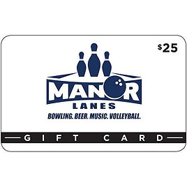 Manor Lanes $50 Value Gift Cards - 2 X $25