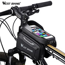 53% OFF|WEST BIKING Bicycle Bags Front Frame High Quality MTB Bike Bag Cycling Accessories