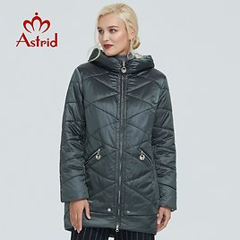 US $55.76 61% OFF|2019 Astrid Winter Jacket Women Contrast Color Waterproof Fabric with Cap Design Thick Cotton Clothing Warm Women Parka AM 2090|Parkas| - AliExpress