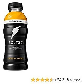 Bolt24 Fueled By Gatorade, Hydration with Antioxidants and Electrolytes, Tropical Mango, 16.9 Fl Oz, Pack of 12
