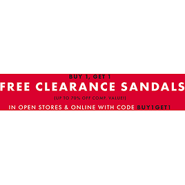 Free Clearance Sandals BUY 1, GET 1