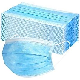 Disposable Face Mask 3-Layer Safety Mask Anti Dust Breathable Mouth Mask with Earloop (50 Pack) USA