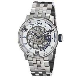 GV2 By Gevril Men's 1301B Motorcycle Sport Automatic Stainless Steel Wristwatch 840840110190