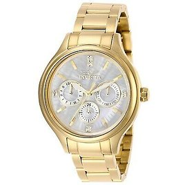Invicta Women's IN-28654 Angel 38mm White Dial Stainless Steel Watch 886678341283