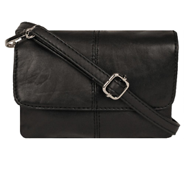 Fold Over Flap Leather Crossbody - Wilsons Leather
