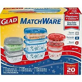 Buy 4 or More Glad Food Storage Containers for $15.29/ea
