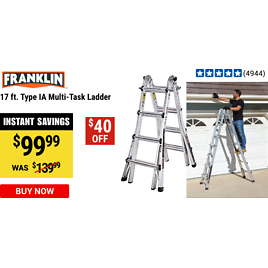 In-Store Only! 17 Ft. Type IA Multi-Task Ladder