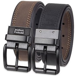 Levi's® Reversible Casual Men's Belt with Double Stitching, Color: Brown Black - JCPenney