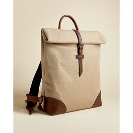 FEATT Jute and Recycled Polyester Canvas Backpack