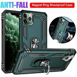 For IPhone 11 Pro Max X XS XR 7 8 6s Plus Case Shockproof Armor Ring Stand Cover