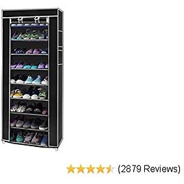 Shoe Rack Cabinet for 27 Pairs of Shoes Standing Storage Organizer