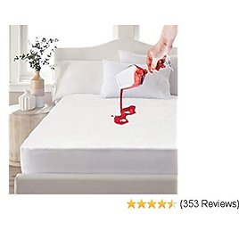 King Waterproof Mattress Protector, Premium Flannel Cotton Mattress Topper Cover Hypoallergenic, Vinyl Free and Breathable