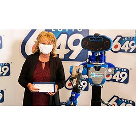 A Lottery Prize Winner Got Her Check from a Robot. Because, Pandemic