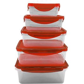 Farberware Set of 5 Rectangle Food Containers