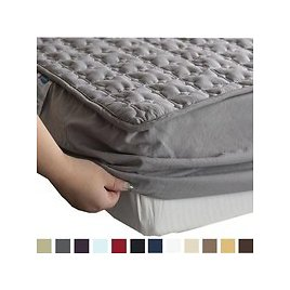 Cotton Thicken Bedsure Hypoallergenic Antibacterial Mattress Pad, Non-slip Breathable Ultra Soft Quilted Mattress Protector Cover | Wish