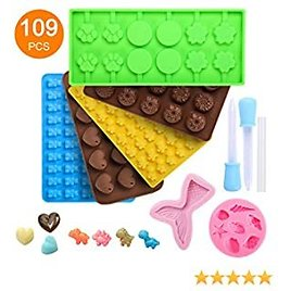 Silicone Gummy Candy Molds Sets