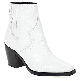 Lucky Brand Jaide Leather Croco-Embossed Ankle Boot - 9649827   HSN