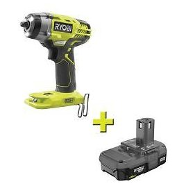 RYOBI 18-Volt ONE+ Cordless 3/8 In. 3-Speed Impact Wrench with 1.5 Ah Compact Lithium-Ion Battery-P263-P189