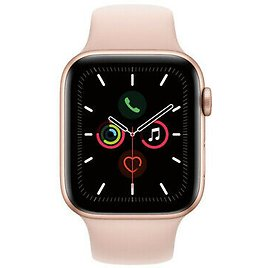 Apple Watch Series 5 (GPS + Cellular, 44mm, Gold, Pink Sand Band) (Renewed) 40962901601