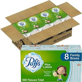3 for $24 Puffs 8-Pack Lotion Facial Tissues