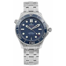 Omega Seamaster Diver 300M Steel Blue Dial Mens Watch 210.30.42.20.03.001 7612586293191