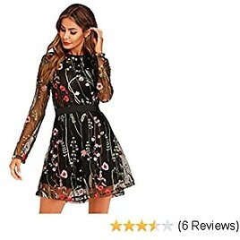 70% 0ff-Women's Floral Embroidered Dress
