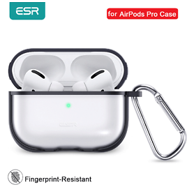 US $3.71 69% OFF ESR for Apple Earphone Case with Keychain Hook Up Protective Cover Clear Transparent Case for Apple Earbuds Funda Luxury Black Earphone Accessories  - AliExpress