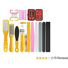 Professional Pedicure Tools Set, LINMO Pedicure Kit Foot File Rasp Callus Remover with Nail Files for Women Men Salon or Home - Removing Hard, Cracked, Dead Skin