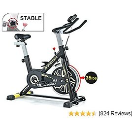 Indoor Cycling Bike Belt Drive Stationary Bicycle Exercise Bikes with LCD Monitor for Home Cardio Workout Bike