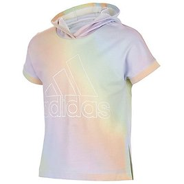 Adidas Big Girls Printed French Terry Cotton Short-Sleeve Hoodie & Reviews - Shirts & Tops - Kids