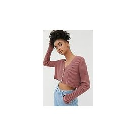 UO Lucky V-Neck Cropped Cardigan