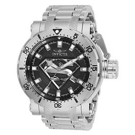 Invicta DC Comics Limited Edition Superman Mens Automatic 52 Mm Stainless Steel Case Black, Silver Dial - Model 26824