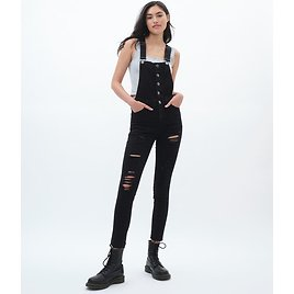 Seriously Stretchy Skinny Ankle Overalls