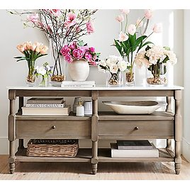 """Alexandra 65"""" Marble Console Table"""