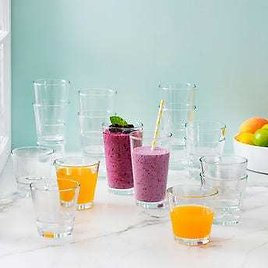 16-piece Set Luminarc Stackable Tempered Glasses