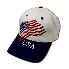 Patriotic Cap with Embroidered Flag and USA 155613