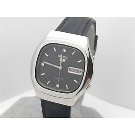Vintage SEIKO 7009-5120 Automatic Men's Watch,day Date Black Dial 1980