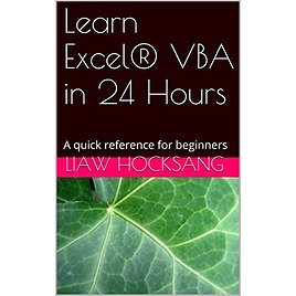 Learn Excel® VBA in 24 Hours: A Quick Reference for Beginners Kindle Edition