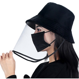 Full Face Bucket Protective Hat Face Shield Cap,Fisherman Hat Sun Cover Outdoor Dust Proof Removable Hat