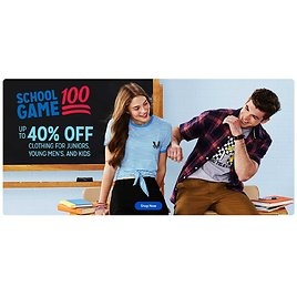 Up to 40% Off Back to School Clothing
