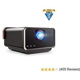 ViewSonic X10-4KE True 4K UHD Short Throw LED Portable Smart Wi-Fi Home Theater Projector Compatible with Amazon Alexa 2020