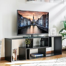 43'' - 86'' DIY Convertible TV Stand and Bookcase, Horizontal or Vertical Storage Shelf, for TV's 40'' to 80''