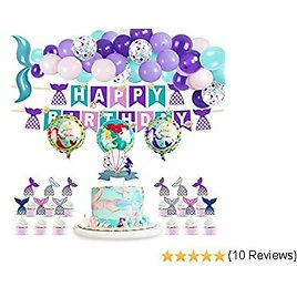 Mermaid Party Supplie for Kids Birthday Party Decorations