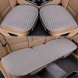 US $4.87 61% OFF|Linen Fabric Car Seat Cover Four Seasons Front Rear Flax Cushion Breathable Protector Mat Pad Auto Accessories Universal Size|Automobiles Seat Covers| - AliExpress