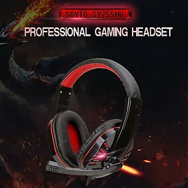 3.5mm Gaming Headset Mic LED Headphones Stereo Surround for PC PS4 Xbox One