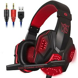 3.5mm Gaming Headset Mic Headphones Stereo Surround for PC Xbox One PS4