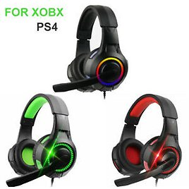 Stereo Surround Headphone Gaming Headset 3.5mm Wired Mic For PS4 Laptop Xbox One